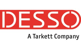 DESSO Logo And Tagline  CMYK 0-100-100-0 Tagline 80 Procent Black