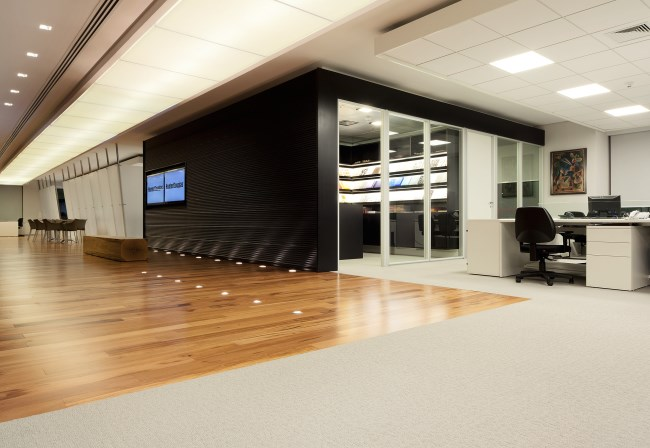Desso Flow carpet at Hunter Douglas